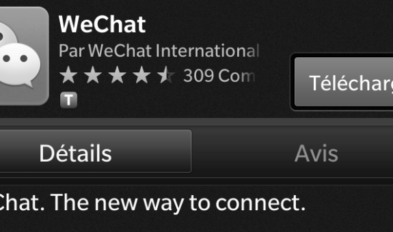 We chat app for Blackberry 10