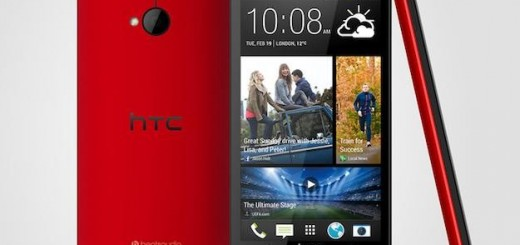 HTC One glamorous red