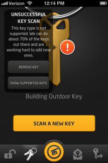 KeyMe iOS app