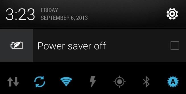Power saver off