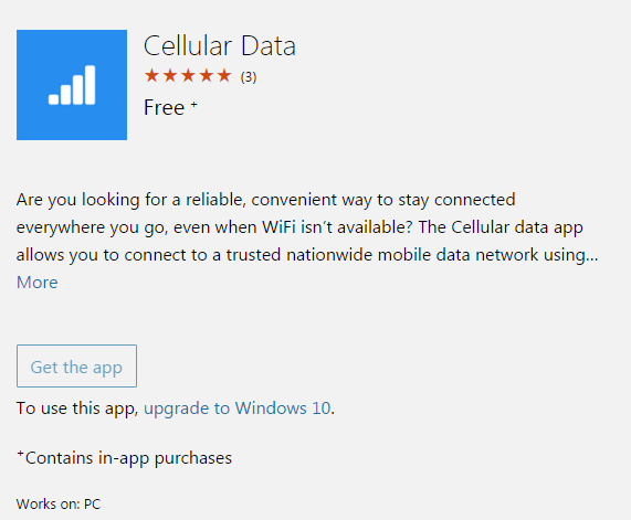 Cellular Data App